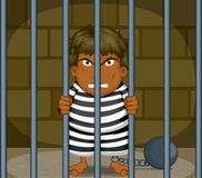 Un preso stock de ilustración