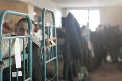 Un preso en los cuarteles Foto de archivo libre de regalías