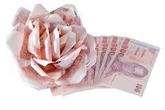 Un prezzo delle banconote della Tailandia di cento isolato su backgr bianco Fotografia Stock