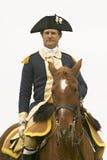 Un primer de general George Washington en el 225o aniversario de la victoria en Yorktown, una reconstrucción del cerco de Yorktow Foto de archivo
