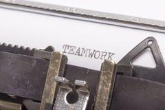 Un primer de la máquina de escribir fotos de archivo libres de regalías
