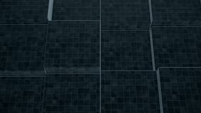 Un primer de una pared dinámica decorativa hecha de bloques de piedra rectangulares Animación abstracta del movimiento de la pare libre illustration