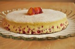 Un primer de una torta de esponja de la fruta Imagenes de archivo