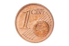 Un primer del centavo euro Fotografía de archivo