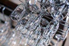 Un primo piano dei vetri del champagne Fotografie Stock