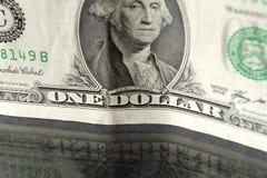 Un primo piano del Bill del dollaro Fotografia Stock Libera da Diritti