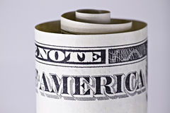 Un primo piano del dollaro Fotografie Stock