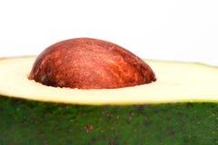 Un primo piano del pozzo dell'avocado Fotografia Stock Libera da Diritti