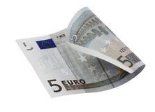 Un primo piano dell'euro 5 Fotografia Stock