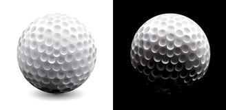 Un primo piano di una sfera di golf Fotografia Stock