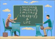 Un professore con un insegnamento dell'uomo royalty illustrazione gratis