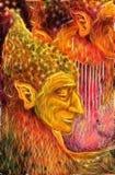 Un profilo leggiadramente verde saggio dell'uomo, effetto di frattale Immagini Stock Libere da Diritti