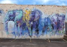 un progetto di 42 murali, ` di Deepellumphants del ` da Adrian Torres, Ellum profondo, il Texas Immagini Stock Libere da Diritti