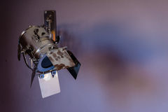 Un projecteur gris professionnel Photographie stock