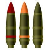 Un projectile d'artillerie illustration de vecteur