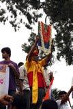 Un protestatore alla sosta di libertà, Bangalore fotografie stock libere da diritti