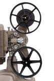 Un proyector de película del vintage en un fondo blanco Fotos de archivo