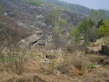Un pueblo abandonado Imagenes de archivo
