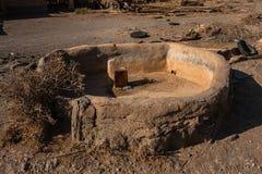 Un pueblo abandonado en Wadi Massal imagenes de archivo