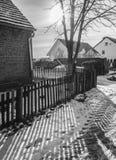 Un pueblo, campo en Polonia Fotografía de archivo