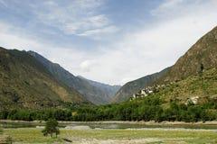 Un pueblo de montaña Imagen de archivo libre de regalías