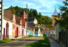 Un pueblo en Transilvania imágenes de archivo libres de regalías