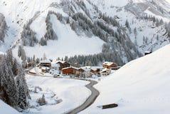 Un pueblo minúsculo de Nesslegg, Schrocken, Austria Imagenes de archivo