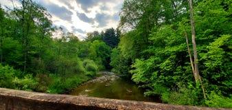 Un puente del carril fotos de archivo libres de regalías