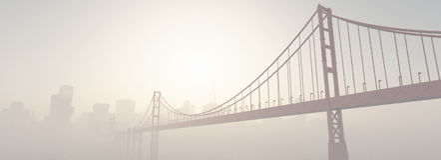 Un puente en la puesta del sol Fotos de archivo libres de regalías