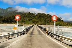 Un puente Franz Josef de la manera Fotos de archivo