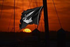 Un puerto del Caribe ofreció la seguridad mediocre a muchos equipos del pirata foto de archivo
