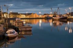 Un puerto pesquero Imágenes de archivo libres de regalías