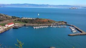 Un puerto seguro en la bahía Foto de archivo libre de regalías