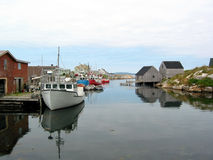 Un puerto tranquilo Foto de archivo libre de regalías