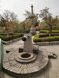 Un puits antique dans une cour de mine souterraine dans Shaanxi, Chine photographie stock