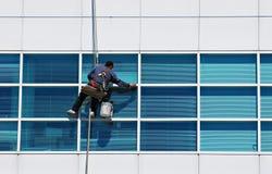 Un pulitore di finestra Fotografia Stock Libera da Diritti
