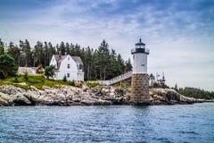 Un punto ben noto Robinson Light nell'acadia parco nazionale, Maine immagini stock