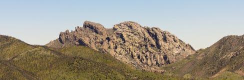 Un punto di riferimento dell'Arizona conosciuto come la testa di Cochise Fotografia Stock Libera da Diritti