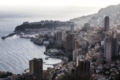 Un punto di vista del Principato di Monaco Immagine Stock