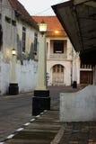 Un punto di vista della via di Kota Tua Semarang Fotografia Stock Libera da Diritti