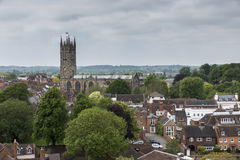 Un punto di vista di Warwick Cathedral Immagine Stock Libera da Diritti