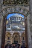 Un punto di vista di Suleiman Mosque maestoso a Costantinopoli, Turchia Immagine Stock Libera da Diritti