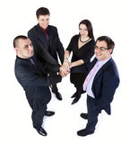 Un punto di vista superiore di quattro genti di affari Fotografia Stock Libera da Diritti