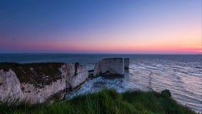 Un punto hermoso de la fotografía en la costa oeste del sur de Inglaterra, en la costa jurásica foto de archivo