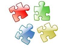 un puzzle dei 4 colorise Fotografie Stock Libere da Diritti