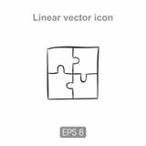 Un puzzle dell'icona di quattro parti Immagine Stock