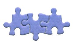 Un puzzle delle tre parti Fotografia Stock