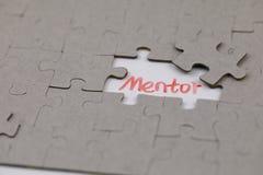 Un puzzle denteux typique avec le mentor photos libres de droits