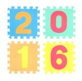 un puzzle di 2016 parole isolato Fotografie Stock