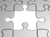 Un puzzle mancante Fotografia Stock
